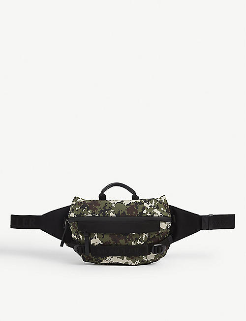 MONCLER: Argens graphic-print nylon belt bag