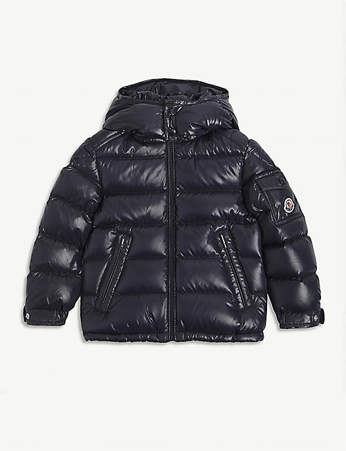 MONCLER: Maya padded shell-down hooded jacket 4-14 years