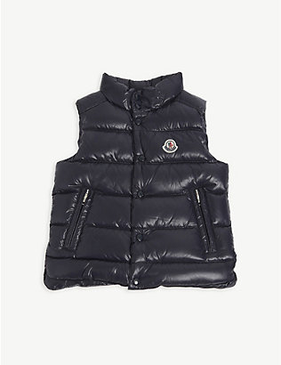 MONCLER: Padded logo-embroidered shell-down gilet 4-14 years
