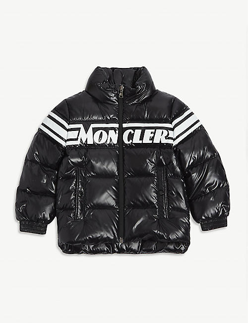 MONCLER: Saise padded shell-down hooded jacket 4-14 years