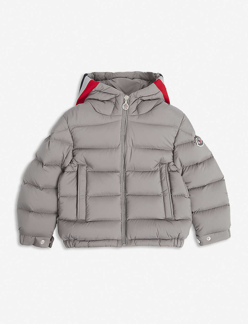 MONCLER: Sorue 3 stripe down jacket 4-14 years