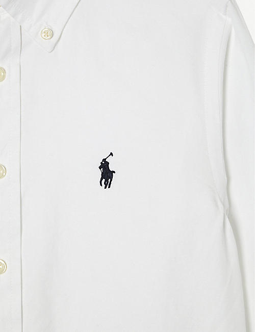 RALPH LAUREN Custom fit long-sleeve shirt 10-12 years