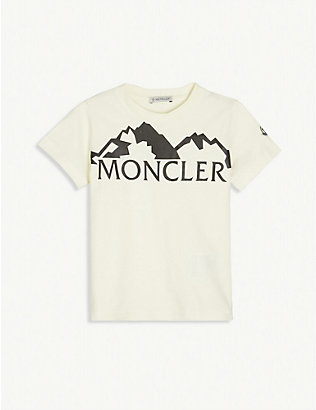 MONCLER: Logo-print cotton-jersey T-shirt 4-14 years