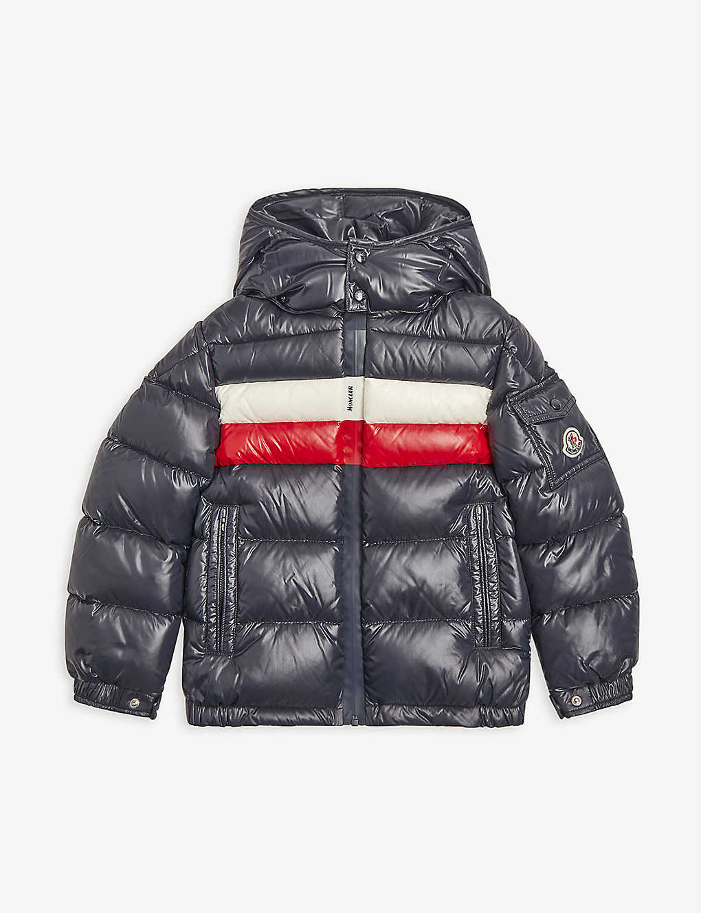 MONCLER: Dell hooded shell puffer jacket 4-14 years