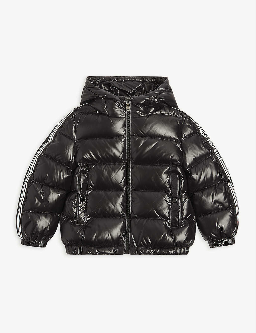 MONCLER: Logo-print quilted nylon jacket 4-14 years
