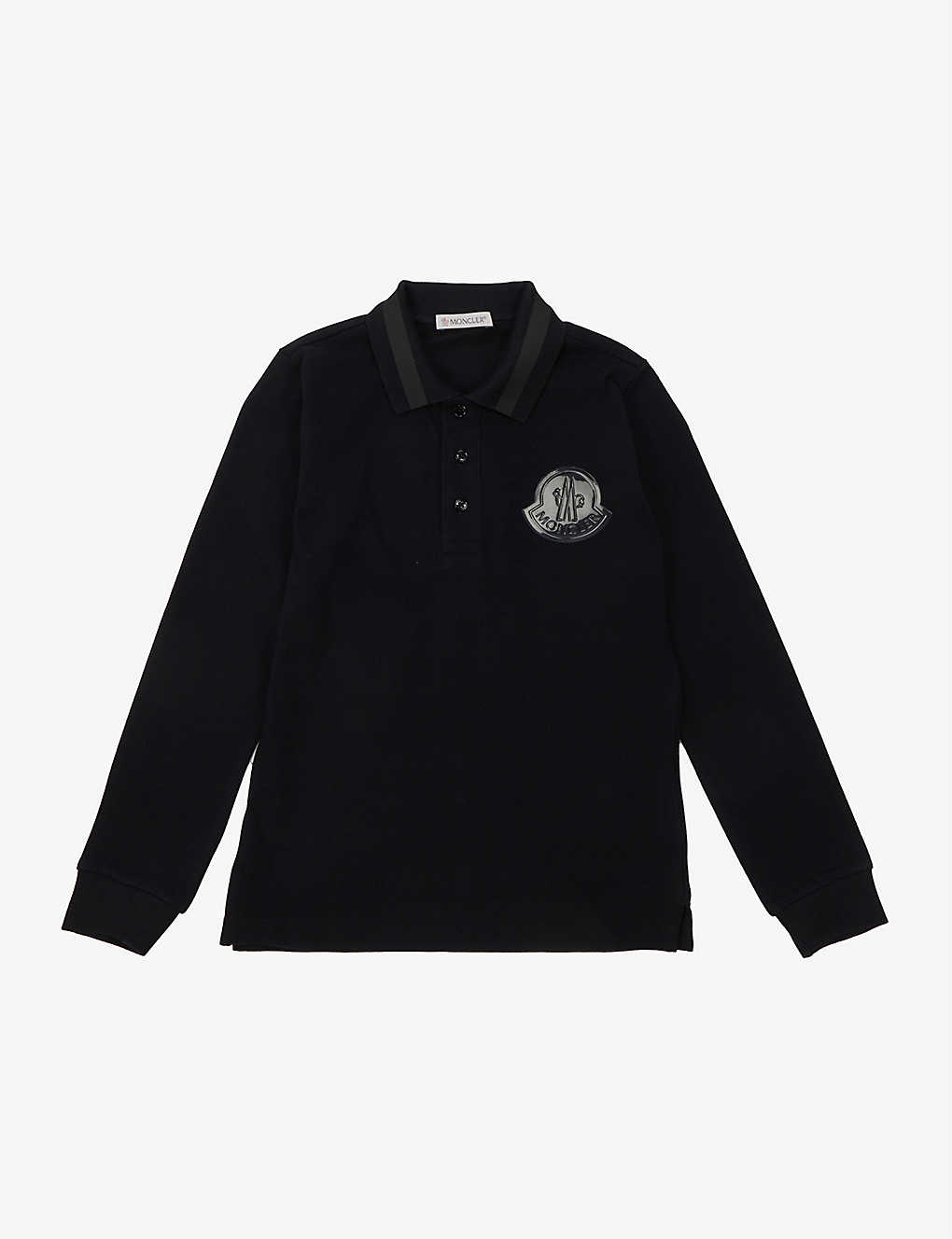 MONCLER:品牌标识棉质 Polo 衫 4-14 岁