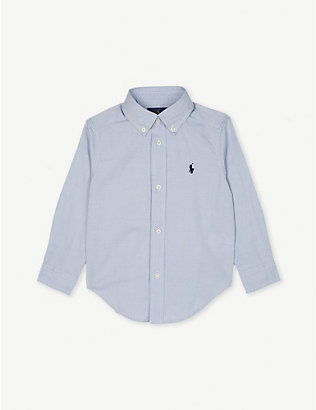 RALPH LAUREN: Logo-embroidered cotton long-sleeve shirt 2-4 years