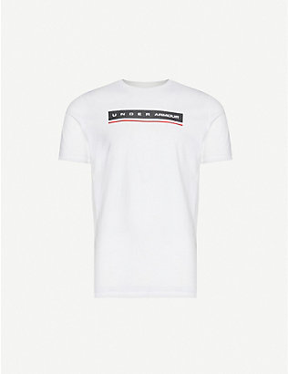 UNDER ARMOUR: Logo-print cotton-jersey T-shirt
