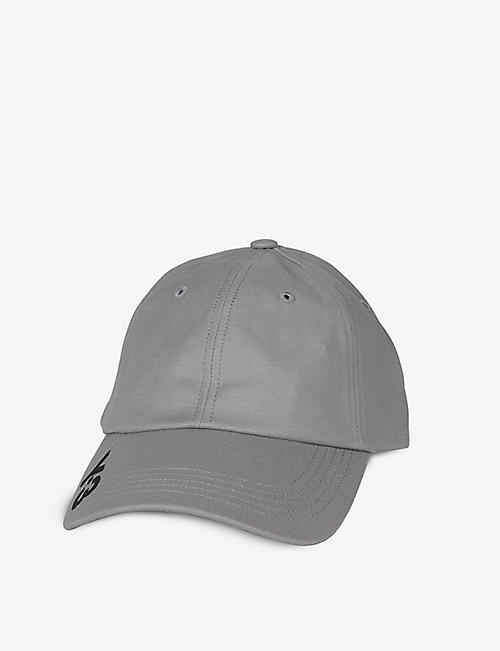 Y3: Logo-print cotton baseball cap