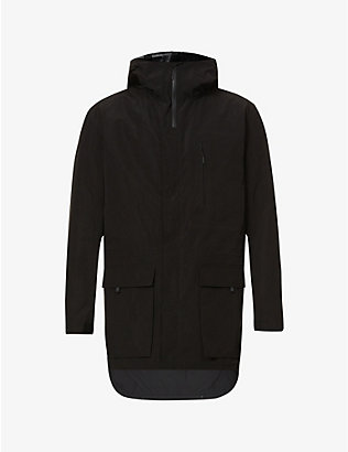 Y3: Dorico hooded drawstring-waist shell coat