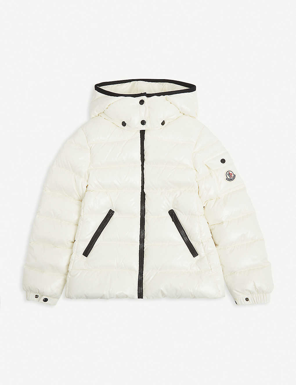 MONCLER: Bady logo-embroidered padded shell jacket 4-14 years