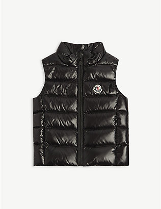 MONCLER: Ghany logo-embroidered shell-down gilet 4-14 years