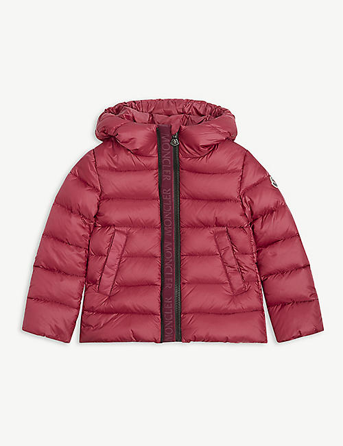MONCLER: Alithia padded nylon coat 4-14 years