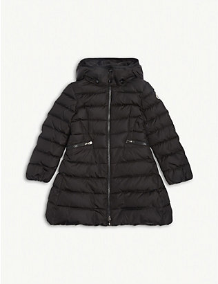 MONCLER: Charpal quilted nylon coat 4-14 years
