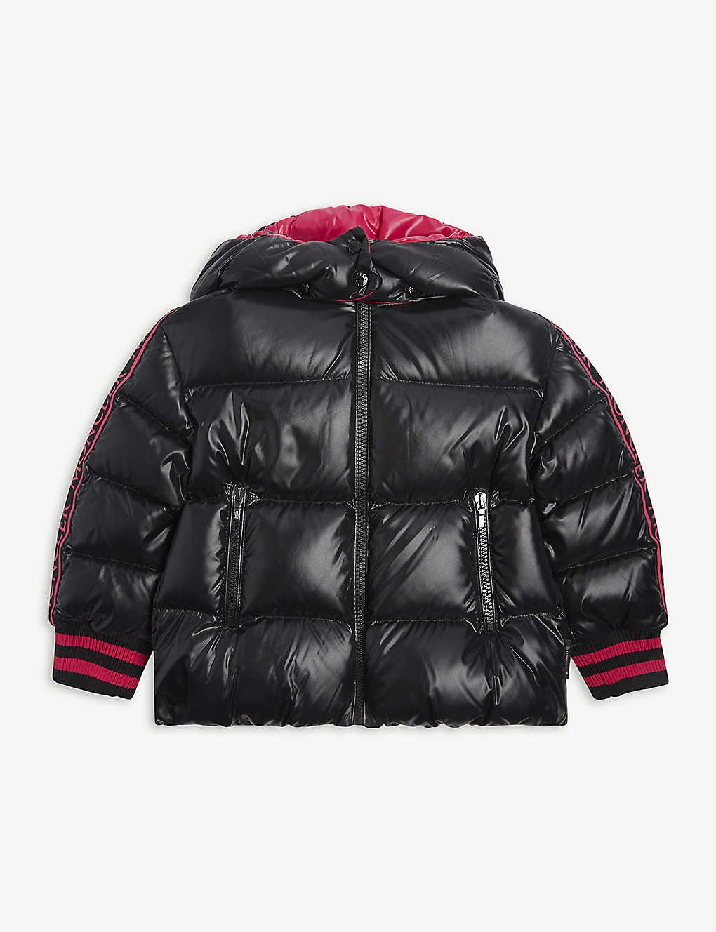 MONCLER: Azzurra padded nylon coat 4-14 years