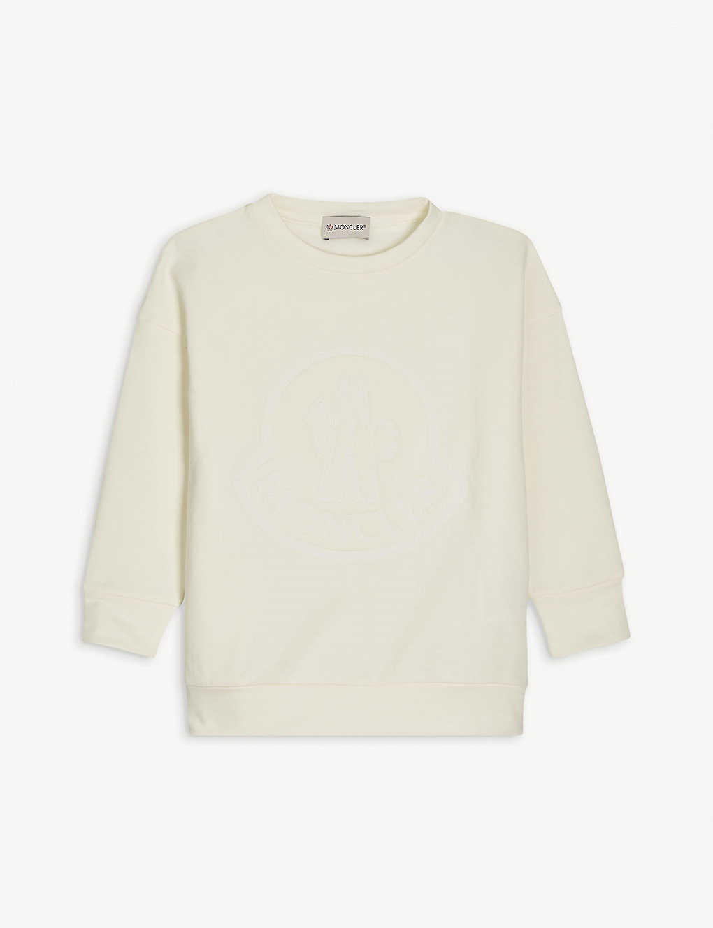 MONCLER: Logo-print cotton-blend sweatshirt 4-14 years