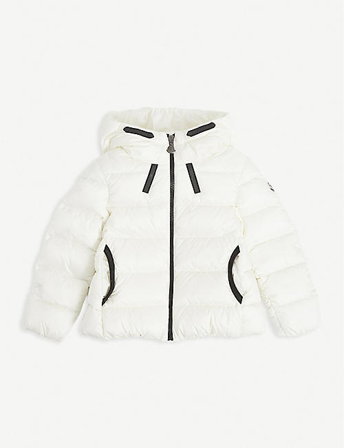 MONCLER: Hooded shell-down jacket 4-14 years