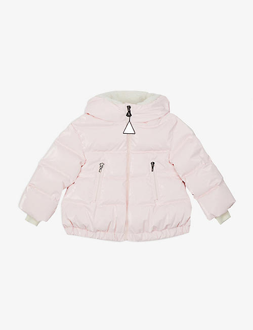 MONCLER: Clentra quilted hooded shell-down jacket 4-14 years