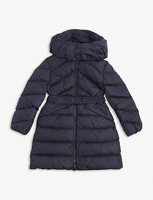 MONCLER: Agot quilted nylon hooded jacket 4-14 years