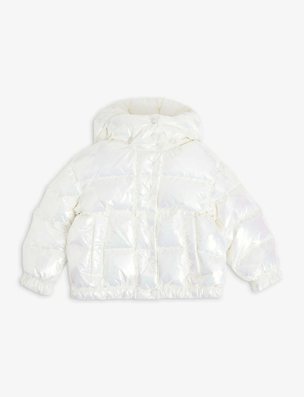 MONCLER: Daos pearlescent puffer jacket 4-14 years
