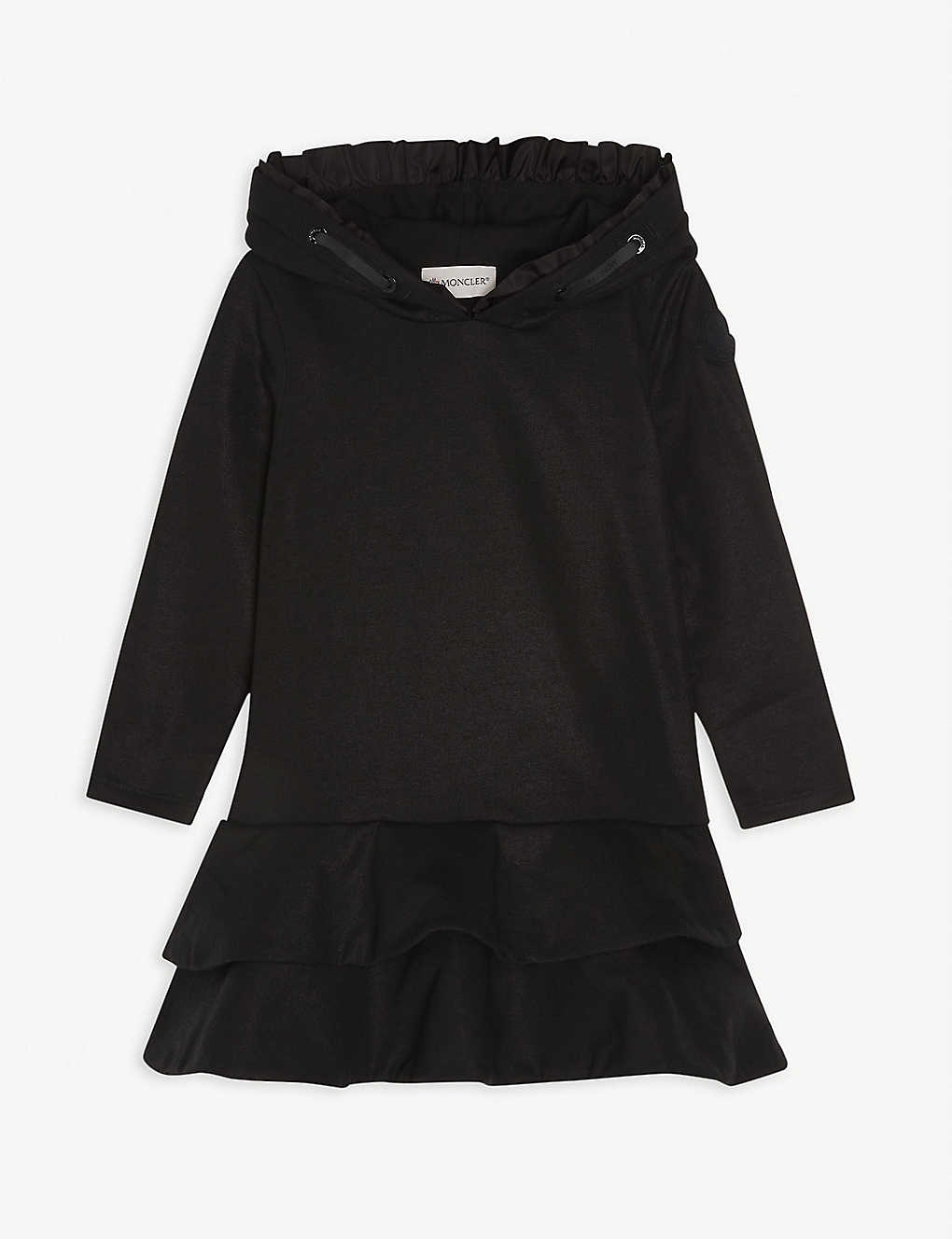MONCLER: Hooded cotton-blend dress 4-14 years