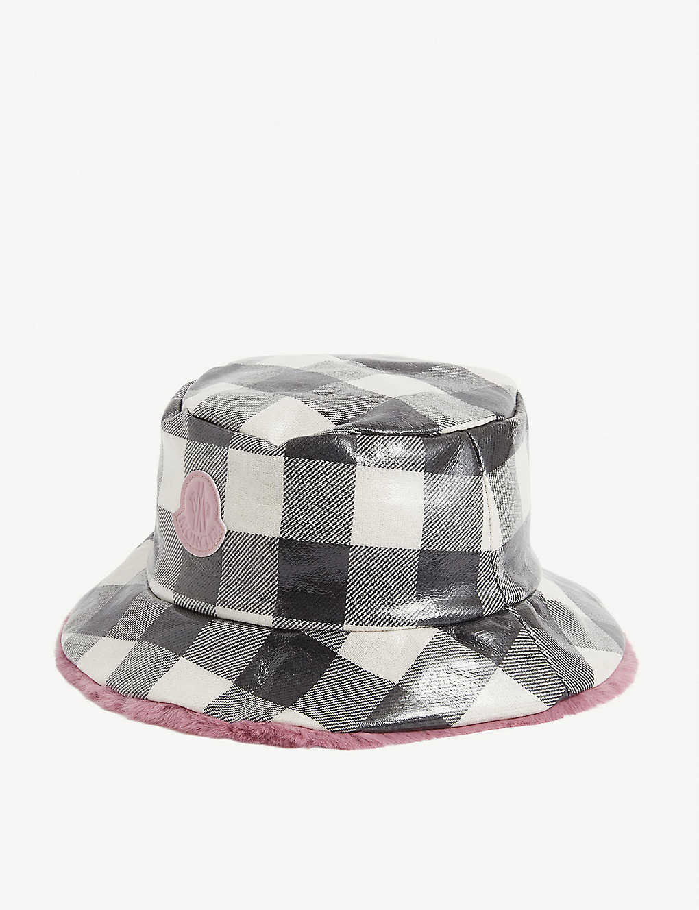 MONCLER: Kids branded cotton-blend bucket hat