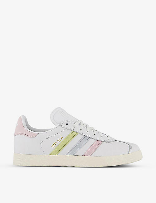 ADIDAS: Gazelle leather and suede trainers