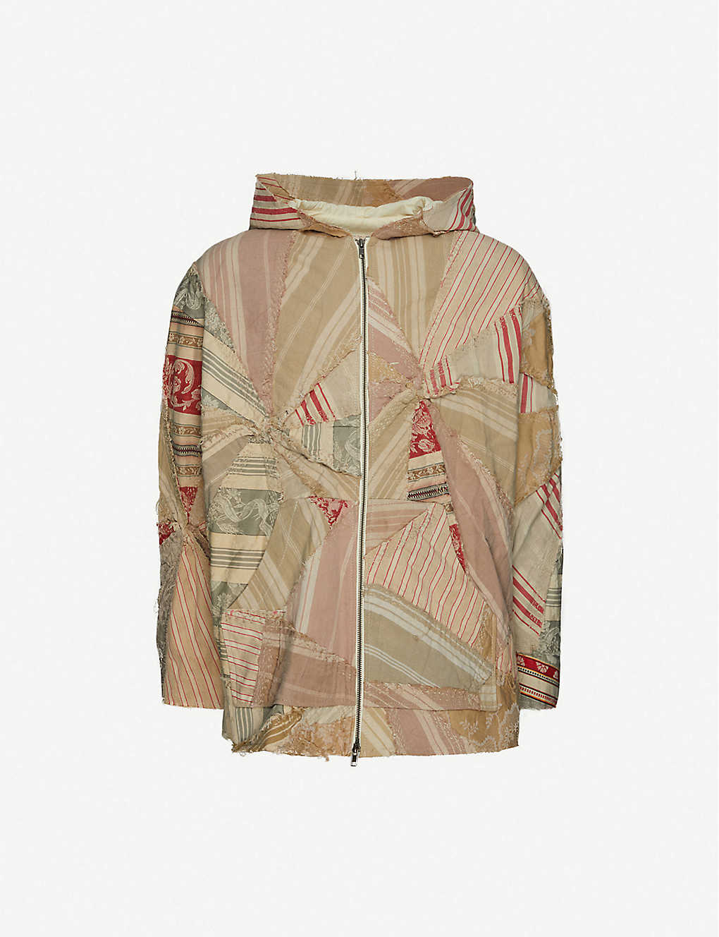BY WALID: Patchwork cotton hoodie