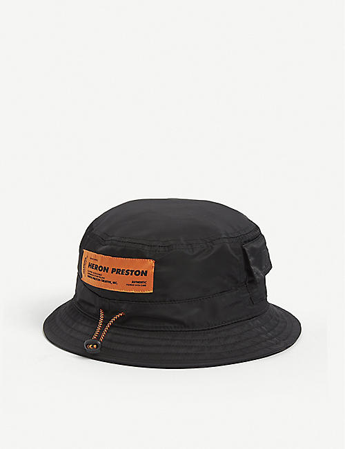 HERON PRESTON: Logo-embellished woven bucket hat