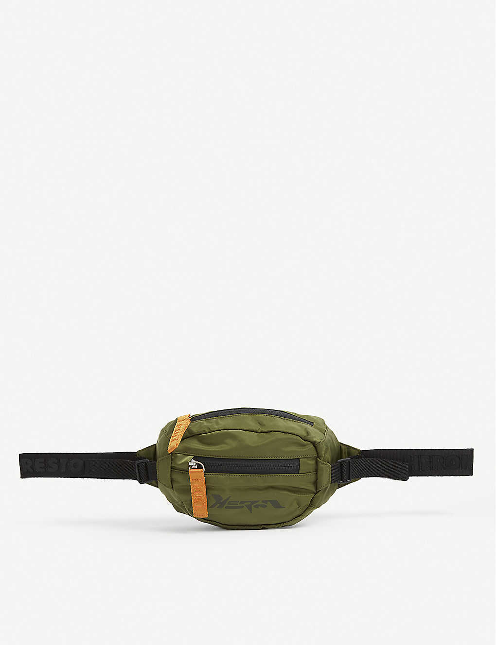 HERON PRESTON: Techno logo-printed woven belt bag