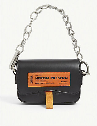 HERON PRESTON: Canal mini leather shoulder bag