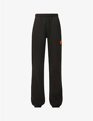 HERON PRESTON: Branded mid-rise cotton-jersey jogging bottoms