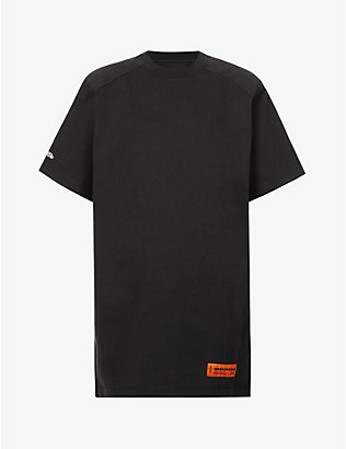 HERON PRESTON: Branded oversized cotton-blend T-shirt