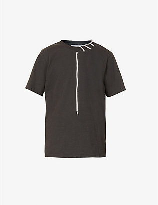 CRAIG GREEN: Laced cotton-jersey T-shirt