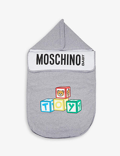 MOSCHINO: Toy-print cotton baby nest