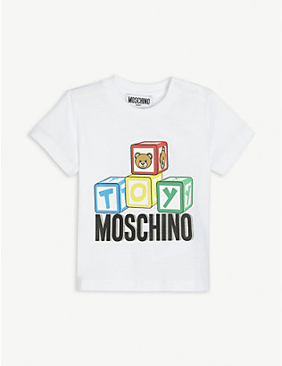 MOSCHINO: Toy bear-print cotton T-shirt 3-36 months