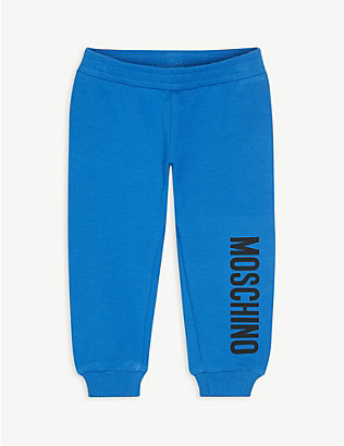 MOSCHINO: Logo cotton-blend jogging bottoms 3-36 months