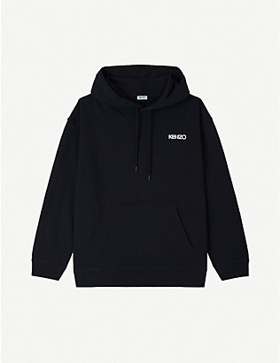 KENZO: Kenzo x Vans logo and floral-print cotton-jersey hoody