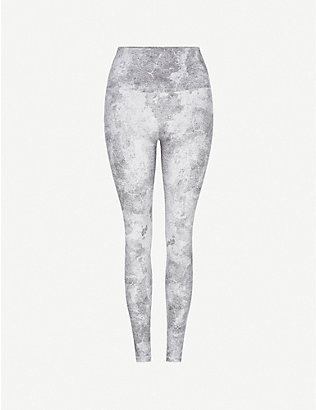 VARLEY: Century abstract-print stretch-jersey leggings