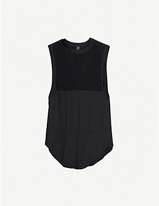 VARLEY: Harvey sleeveless woven and mesh top