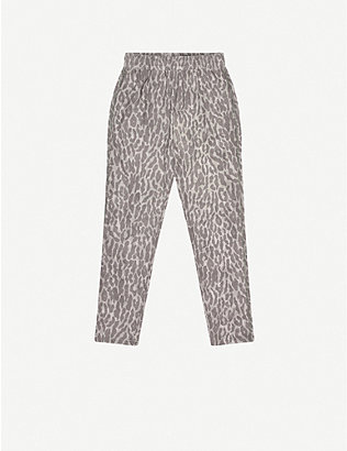 VARLEY: Effie animal-print stretch-woven jogging bottoms