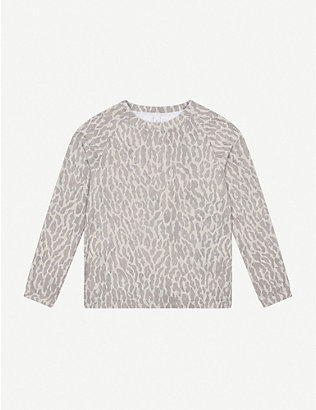 VARLEY: Chelan animal-print stretch-jersey sweatshirt