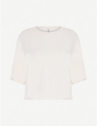 VARLEY: Robin short-sleeved stretch-jersey T-shirt