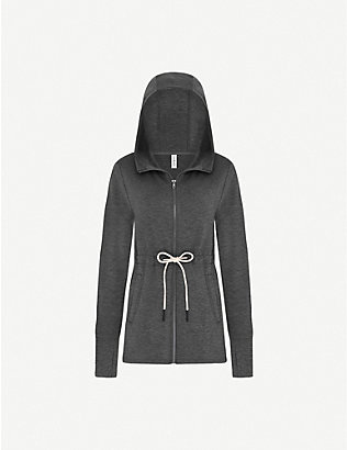 VARLEY: Colby drawstring-waist cotton-jersey hoody
