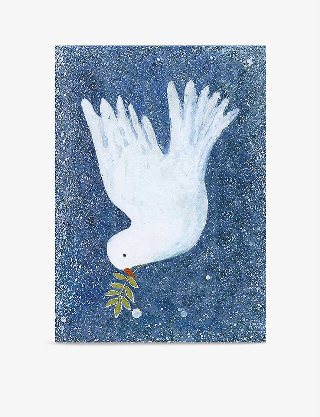 MUSEUMS AND GALLERIES: Pack of 8 Dove with mistletoe greetings card 12.3cm x 12.3cm