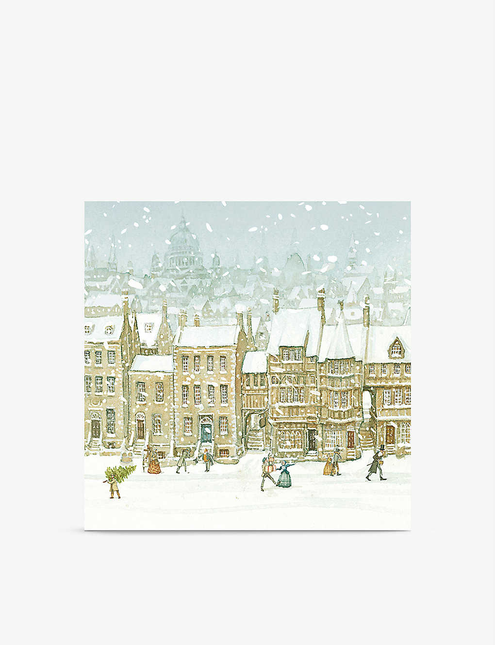 MUSEUMS AND GALLERIES: Pack of 8 A Christmas Carol greeting cards 14cm x 14cm