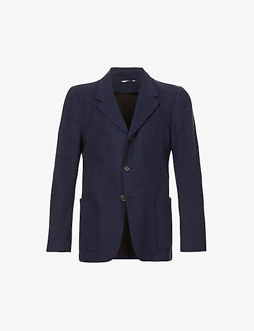 CANALI: Single-breasted wool-blend blazer
