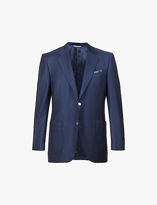 CANALI: Single-breasted regular-fit wool blazer