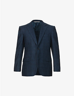 CANALI: Single-breasted wool and cashmere-blend blazer