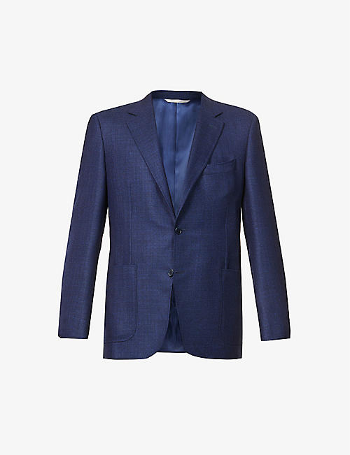 CANALI: Single-breasted notch-lapel wool blazer